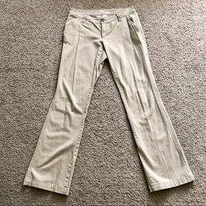 Old Navy The Diva Tan Khaki Flare Pants Size 4